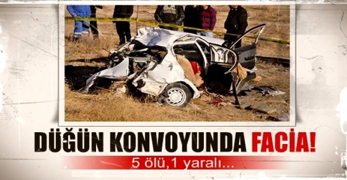 Düğün konvoyunda facia 5 ölü, 1 yaralı
