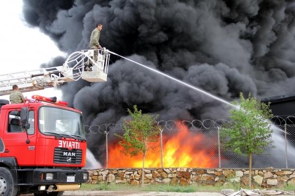Elazığ'da fabrika yangını