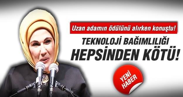 Emine Erdoğan: Teknoloji bağımlılığı hepsinden sinsi