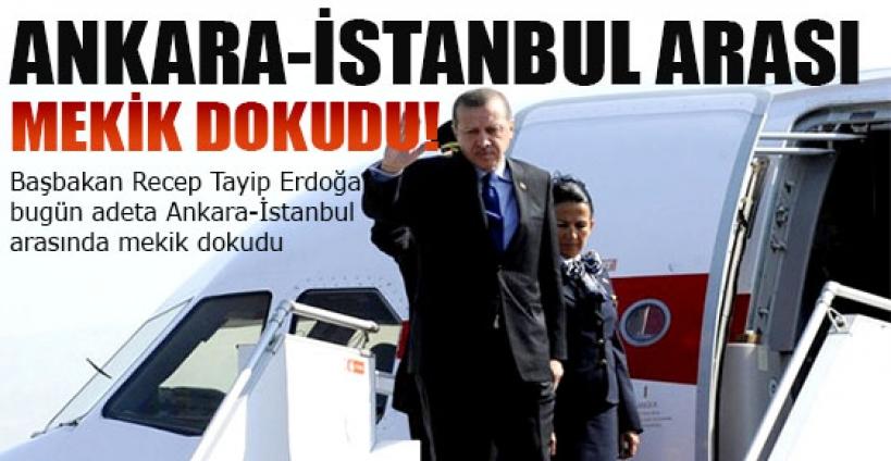 Erdoğan, Ankara-İstanbul arasında mekik dokudu