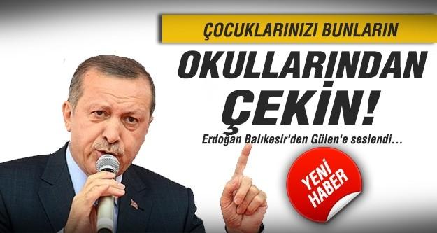Erdoğan Balıkesir'den Gülen'e seslendi...