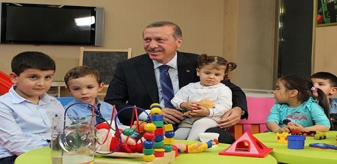 Erdoğan Çocuk Oyun Alanını Gezdi...