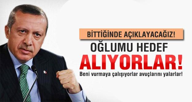 Erdoğan: Oğlumu hedef alıyorlar