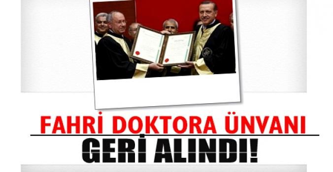 Erdoğan'a verilen fahri doktora ünvanı geri çekildi
