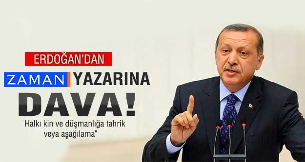 Erdoğan'dan Today's Zaman yazarına dava