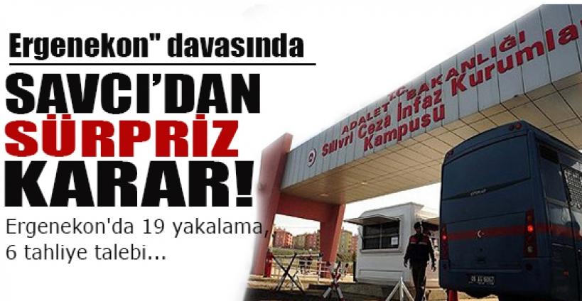 ''Ergenekon'' davasında, tutuksuz yargılanan 19 sanık hakkında ''yakalama'' kararı çıkarılması, 6 tutuklu sanığın da tahliyesi istendi.