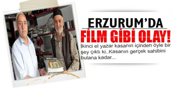 Erzurum'da film gibi olay