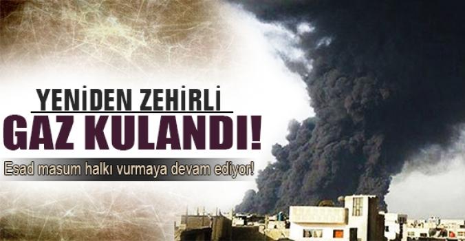 Esad yeniden zehirli gaz kullandı!