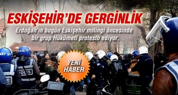 Eskişehir'de AK Parti mitingi öncesi gerginlik