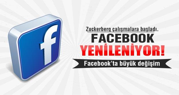 Facebook yenileniyor.