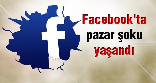 Facebook'ta pazar şoku yaşandı