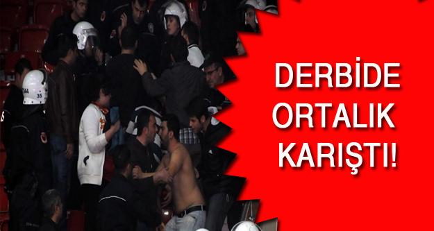 Fenerbahçe- Galatasaray derbisinde olay!