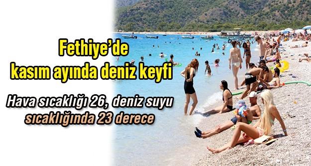 Kasım ayında Fethiye'de deniz keyfi