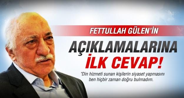 Fethullah Gülen'in açıklamalarına hükümetten cevap