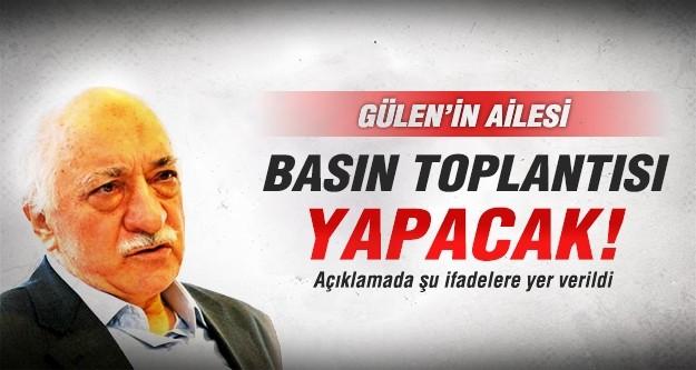 Fethullah Gülen'in ailesi basın toplantısı yapacak