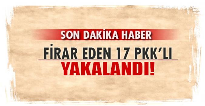 Firar eden mahkum PKK'lılar yakalandı..