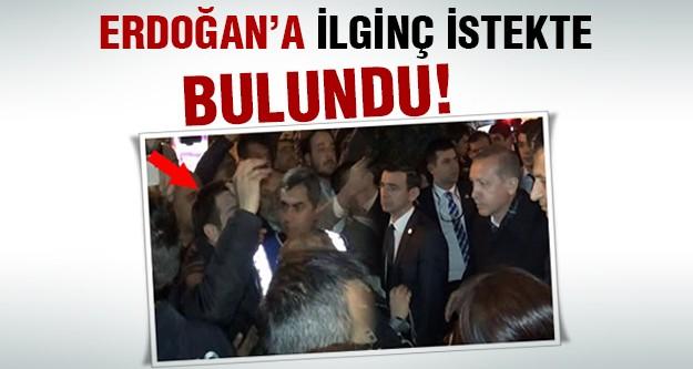 Genç adam Erdoğan'ı şaşırttı!