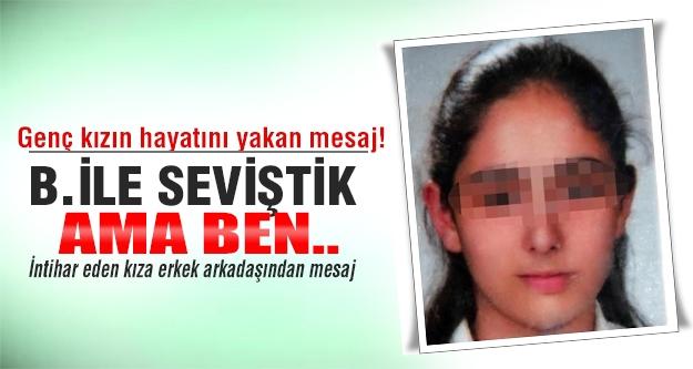 Genç kızın hayatını yakan mesaj!