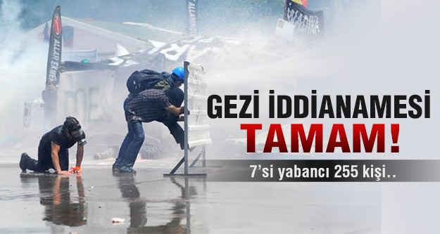 Gezi iddianamesi tamam!
