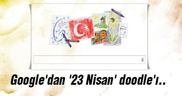 Google'dan Ulusal Egemenlik ve Çocuk Bayramı doodle'ı..