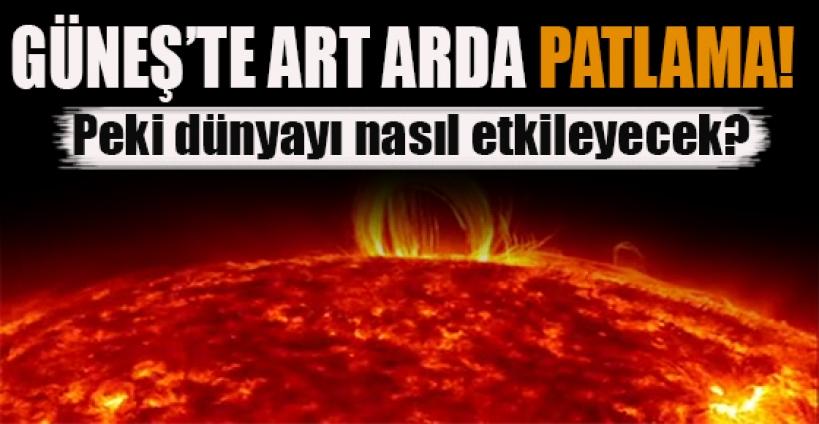 Güneş'te art arda dördüncü patlama