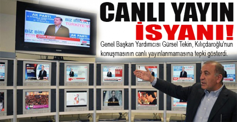Gürsel Tekin'i çıldırtan Erdoğan yayını!