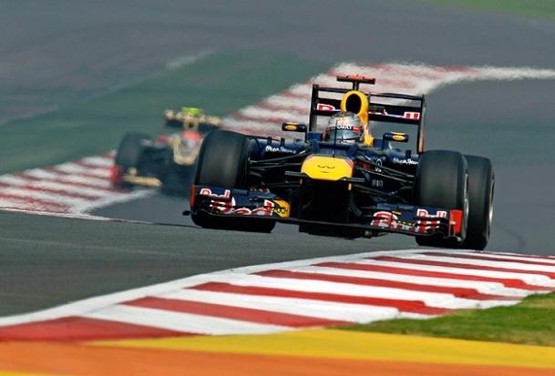 Hindistan'da ilk cep Vettel'in