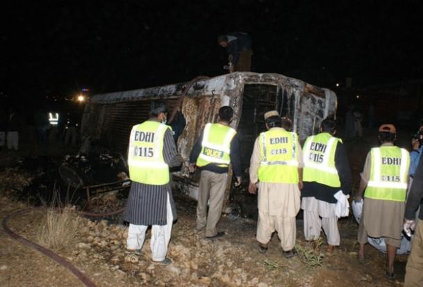 Hindistan'da otobüs kazası