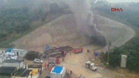 Hızlı tren inşaatında yangın paniği!
