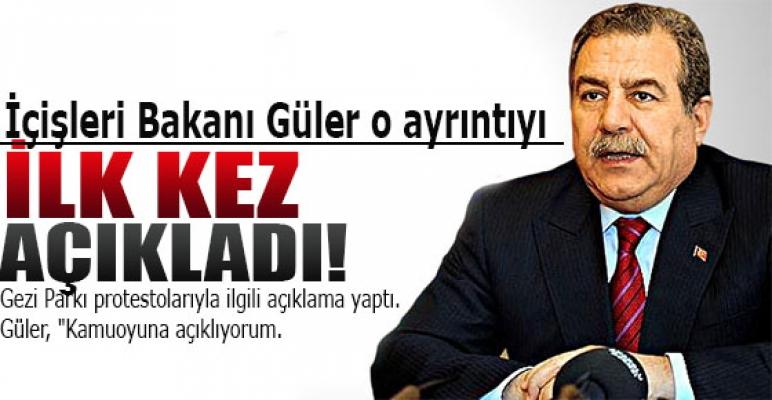 İçişleri Bakanı Güler:İlk kez açıkladı