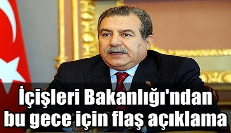 İçişleri Bakanı güler'den Gezi Parkı açıklaması