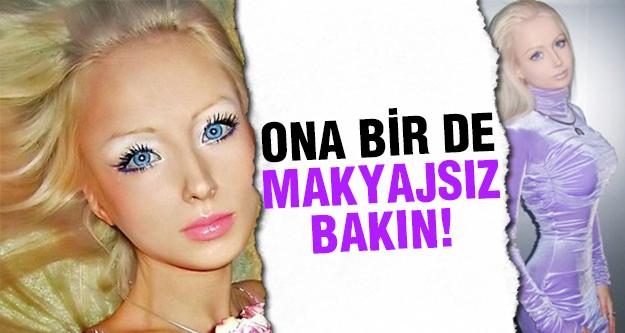 İnsan Barbie' nin makyajsız halini görün