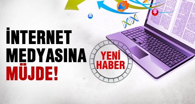 İnternet haber sitelerine müjde!