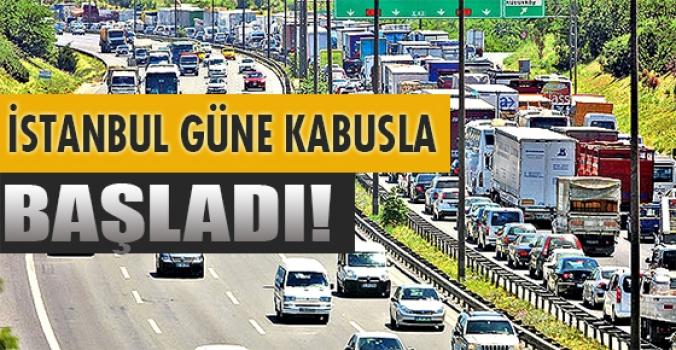 İstanbul güne çileyle  başladı!