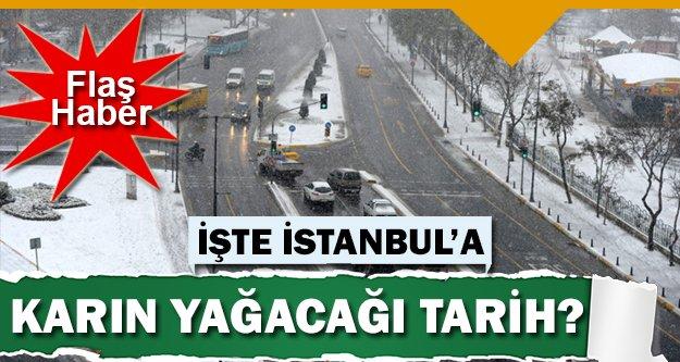 İstanbul'a kar bu tarihte geliyor!