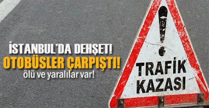 İstanbul'da trafik kazası...