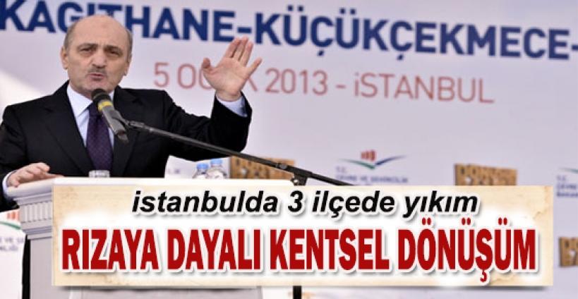 İstanbul'da üç ilçede aynı anda yıkım