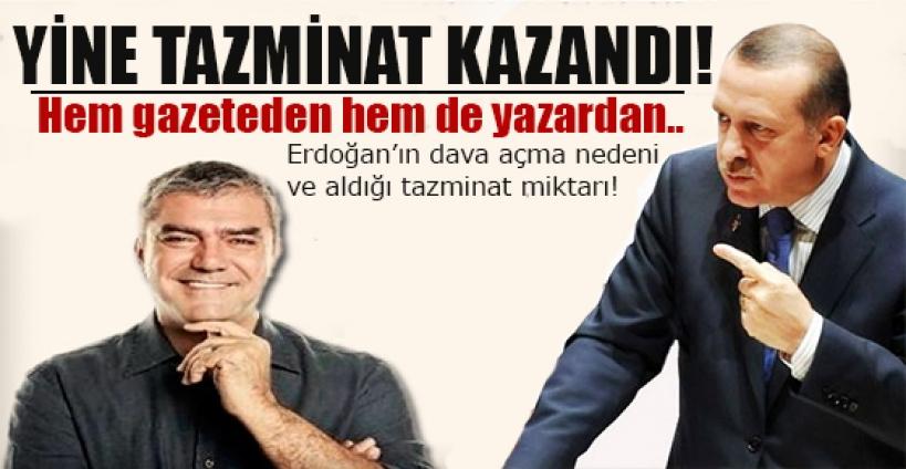 İşte Erdoğan'ın tazminat kazandığı köşe yazarı