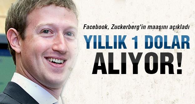 İşte Mark Zuckerberg'in yıllık maaşı!