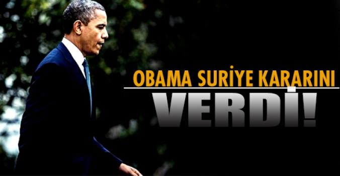 İşte Obama'nın Suriye Kararı...