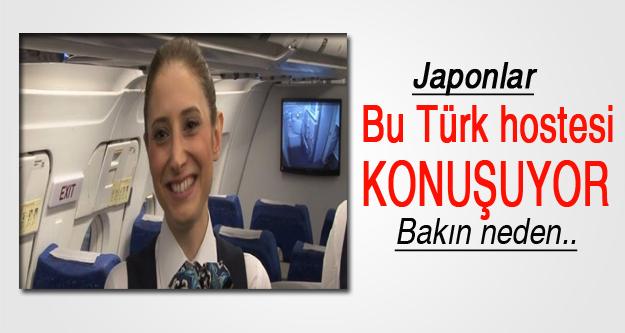 Japonya'da konuşulan Türk hostes