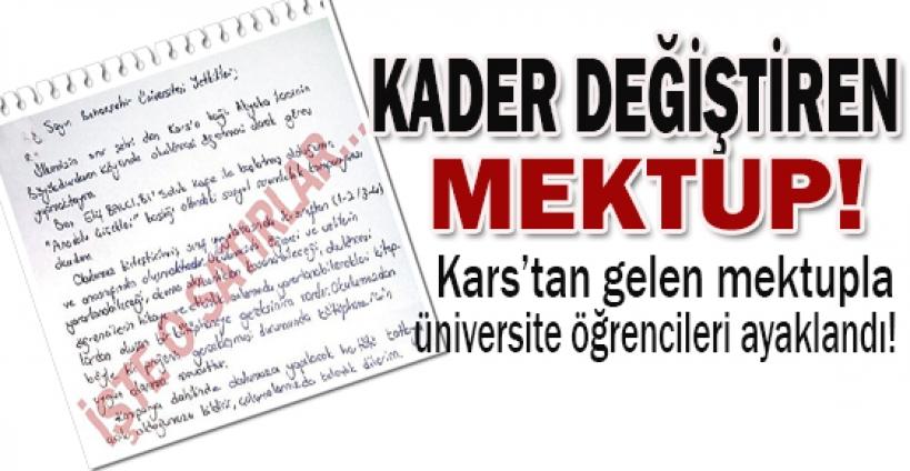 Kader değiştiren mektup!