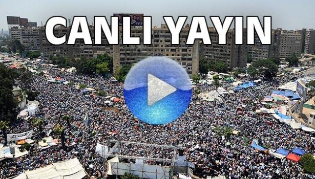 Kahire'de Mursi'ye destek mitingi