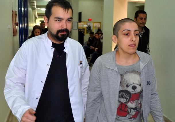 Kanser hastası Dilek hastaneye yatırıldı