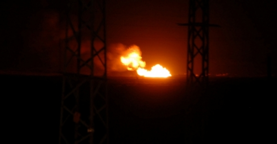 Kars'ta doğal gaz boru hattında patlama
