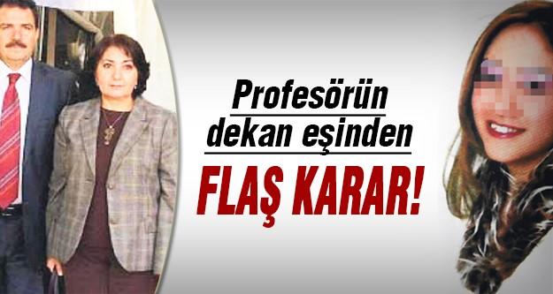 Katil profesörün eşinden istifa!