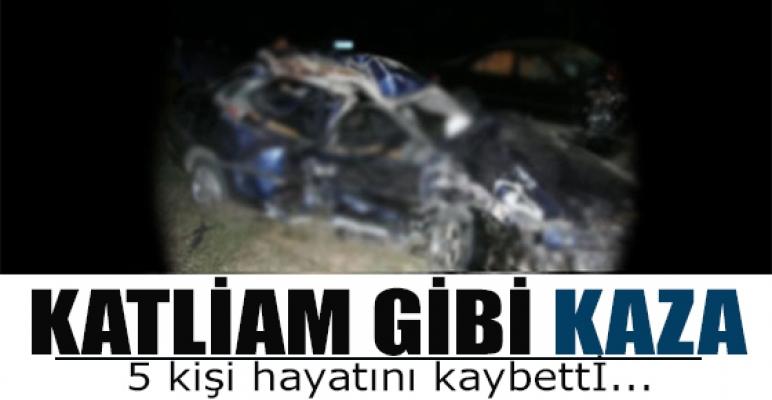 Katliam gibi kaza: 5 ölü