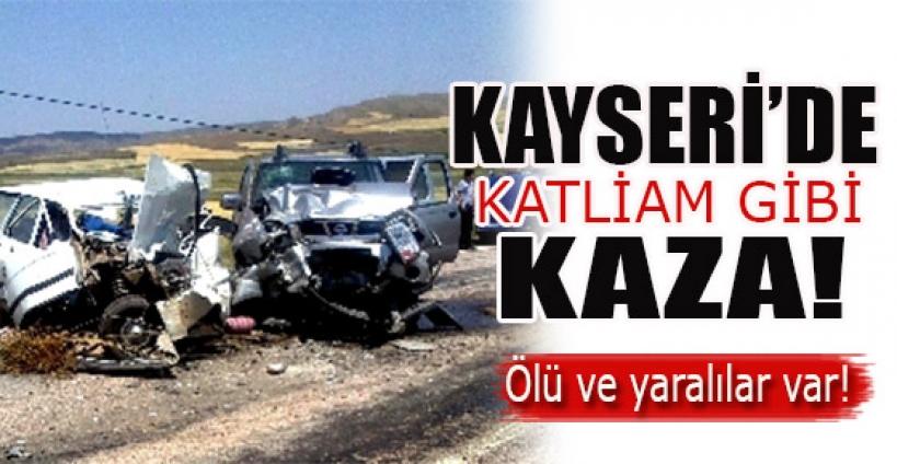 Kayseri'de katliam gibi kaza!