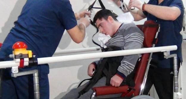 Kaza sonucu felç kalan gençten iyi haber geldi