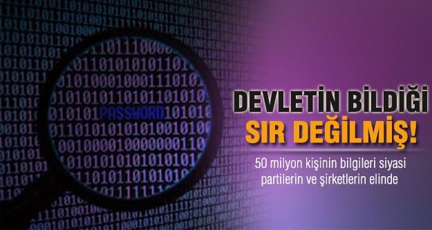 Kişisel veriler devletin elinde!